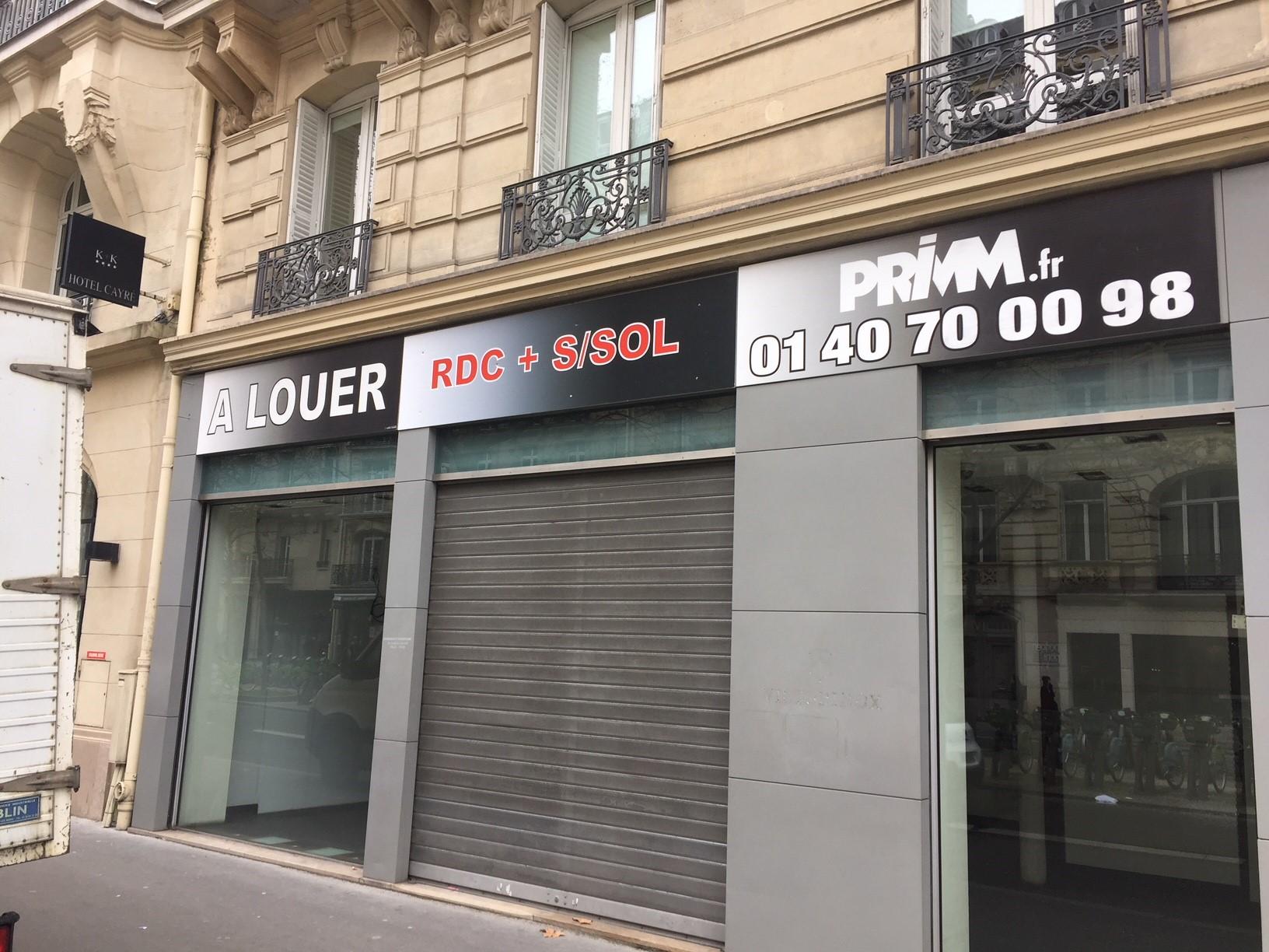 BOUTIQUE A LOUER A PARIS 75007